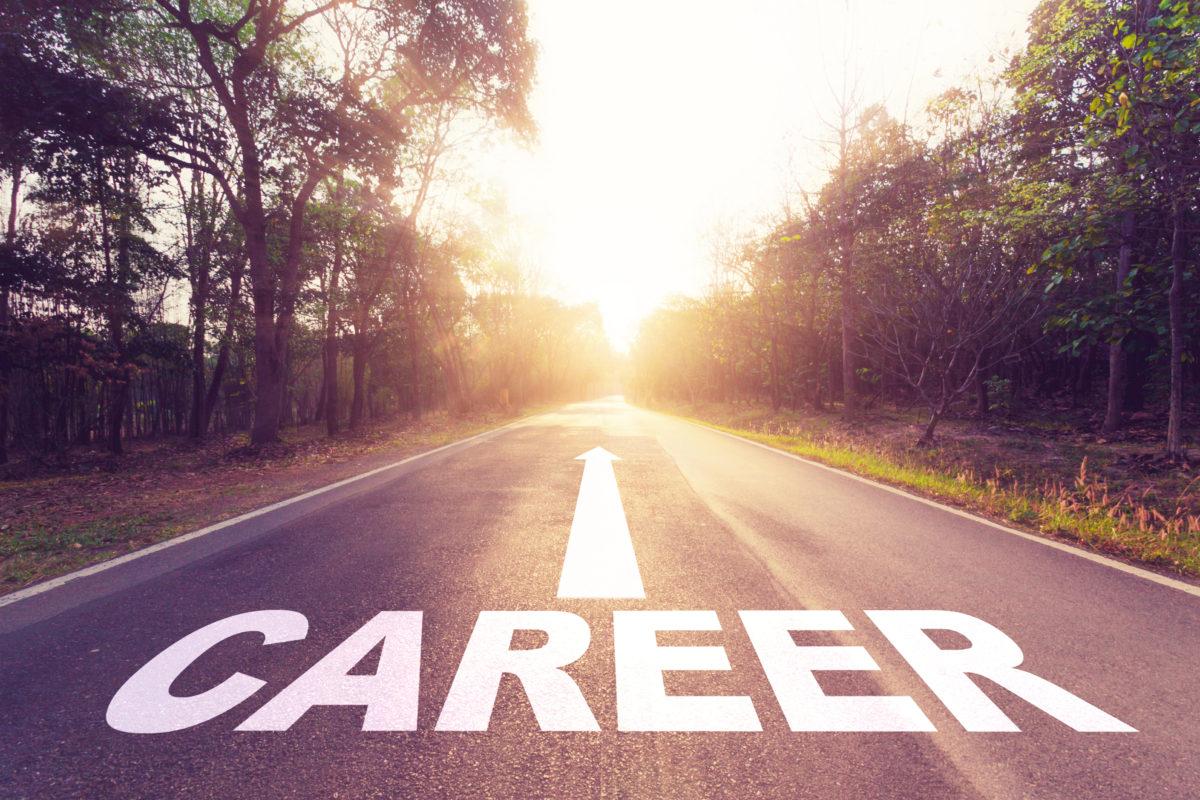 Asphalt road and Career concept.