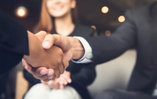 Shaking hands meeting