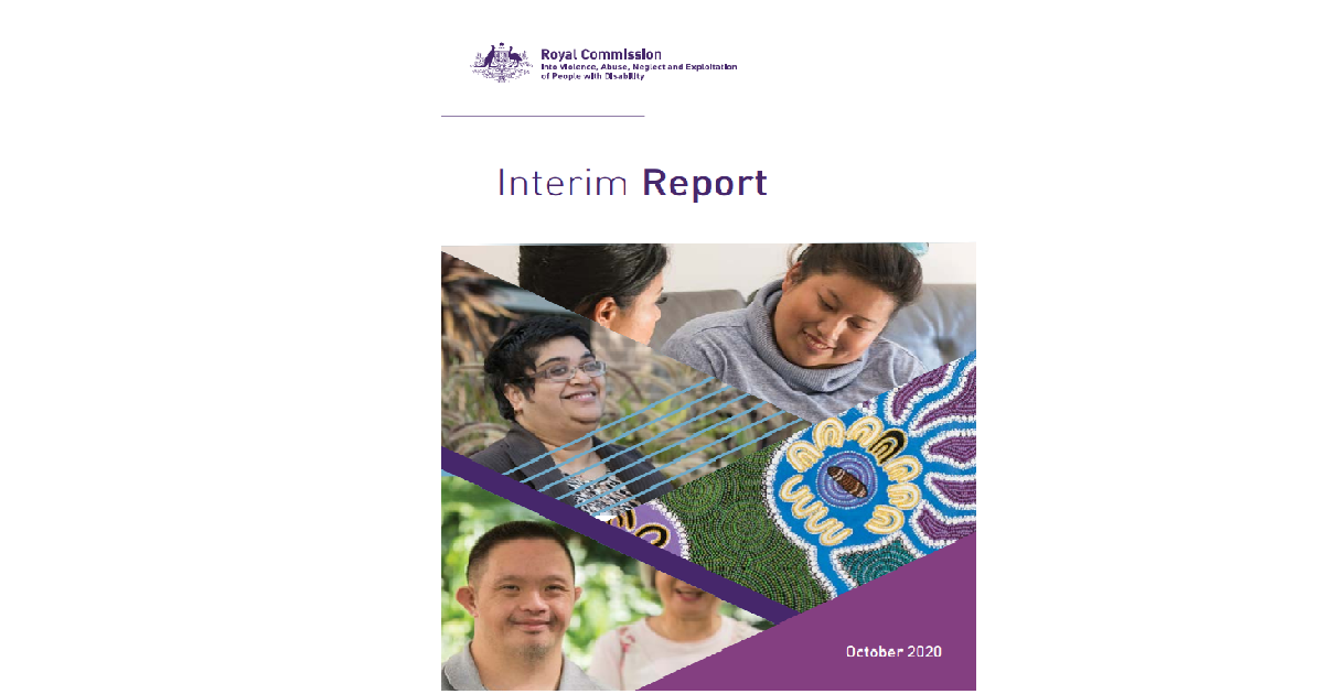 Royal Commission Interim Report October 2020
