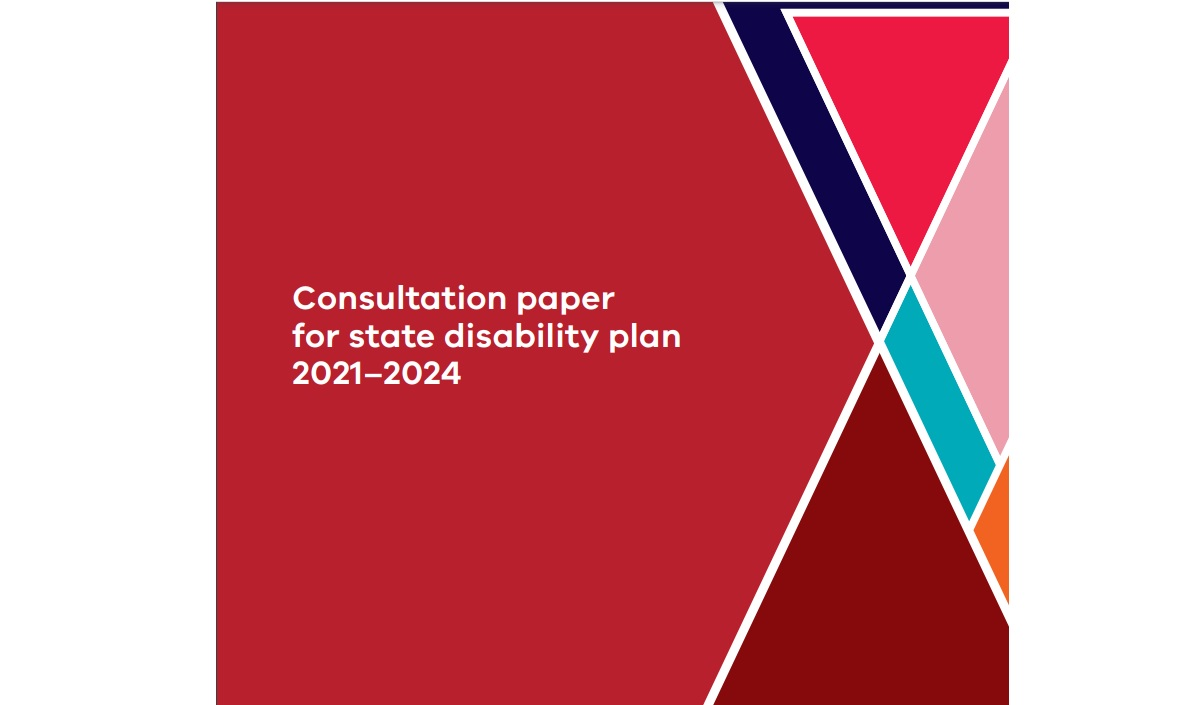 State Disability Plan Consultation paper cover