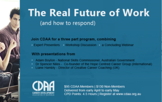CDAA Logo and The real future of work and how to respond