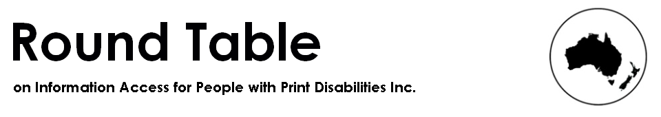 Round Table on Information Access for People with Print Disabilities Inc. logo