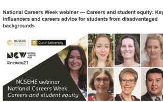 National Careers Week NCSEHE diverse images of and people NCSEHE and Curtin University Logos