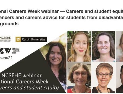 National Careers Week webinar — Careers and student equity: Key influencers and careers advice for students from disadvantaged backgrounds