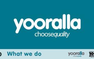 Yooralla logo choose equality