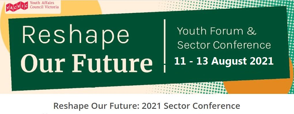 Reshape our future Conference promo logo 11 -13 August 2021
